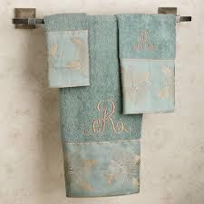 bathroom cute set of 4 bath towels set in gray and orange color