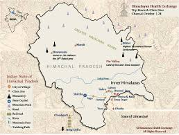 Himilayas Map Himalayan Health Exchange