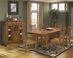 Mission Style Dining Room by Intercon Mission Leopold 7 Piece Trestle Table U0026 Slat Back Chair