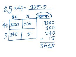 decimals multiplication worksheet format and example