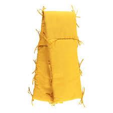 nobodinoz tour de lit tour de lit ouatiné en gaze de coton jaune moutarde louis louise