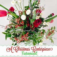 a christmas centerpiece tutorial the style sisters