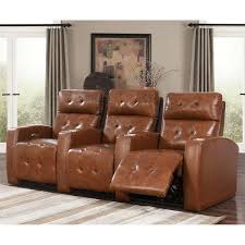 andria 3 piece top grain leather power media recliners living room