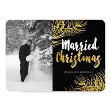 fun just married cards invitations greeting u0026 photo cards zazzle