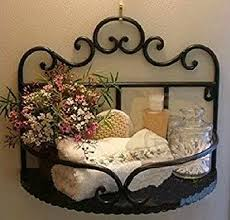 amazon com garden style wrought iron bathroom shelves storage