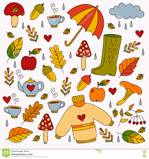 Fall Autumn by Hand Drawn Fall Autumn Symbols Stock Vector Image 77492258