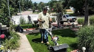 artificial grass installation castle rock co lawn pros