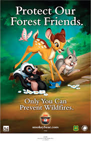 Wildfire Cartoon Dvd by Smokey Bear U0026 Disney U0027s Bambi Remind Americans U201conly You Can