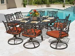 Aluminum Patio Dining Table Patio Dining Set With Swivel Chairs11 Daily Cast Aluminum