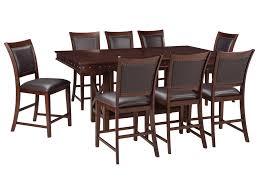 signature design by ashley collenburg 9 piece counter table set