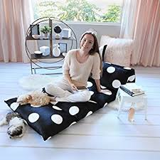 amazon com kids floor pillow fold out lounger fabric cover for