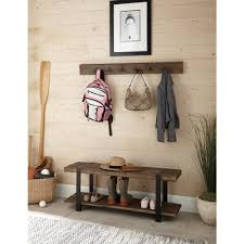 alaterre furniture modesto reclaimed wood coat hook with bench