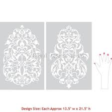 turkish ornament wall stencils for painting large decal