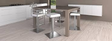 table ilot cuisine haute engageant chaise haute pour ilot central cuisine table kalis