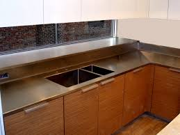 stainless steel countertop with sink integral stainless steel double bowl sink brooks custom