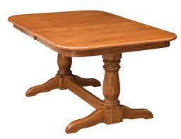 amish furniture hand crafted solid wood pedestal tables