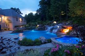 images about amazing backyards pool waterfall also luxury 2017