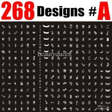 268 designs large nail stamp plate nail art stamping image plate