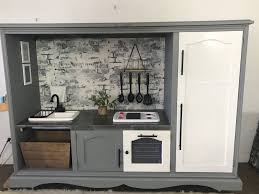 how to paint kitchen cabinets bunnings bunnings transforms tv unit into stunning kitchen
