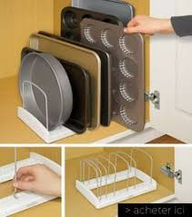 ranger cuisine range assiette blanc rangement vertical vaisselle aménagement