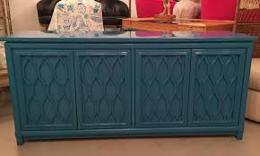 lacquered credenza buffet sideboard blue teal dresser hollywood