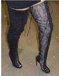 womens the knee boots size 12 selling lace up thigh high boots cut outs gladiator