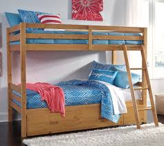Signature Design By Ashley Hallytown Solid Pine TwinTwin Bunk Bed - Pine bunk bed