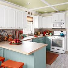 How To Do Kitchen Cabinets I Want To Do This In The Kitchen White Upper Cabinets And A Color