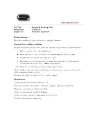 Receiving Clerk Resume Sample 12 Best Images Of Warehouse Shipping Clerk Resume Shipping