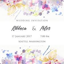 online cards write name on floral engagement invitation card pictures