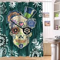 Sugar Skull Bathroom Shop Fashion Shower Curtain On Wanelo