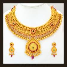 gold necklace sets images Gold bridal attigai necklace set from vbj south india jewels jpg