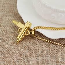 chain necklace hip hop images 60 cm hip hop uzi neck pistol uzi gun necklaces chain for men jpg
