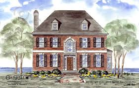 colonial house plan dunwoody house plan house plans by garrell associates inc