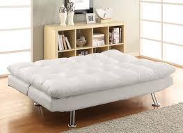 Leather Click Clack Sofa Monarch Specialties White Leather Look Click Clack Futon Live