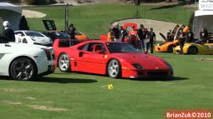 slammed ferrari f40 ferrari f40 burnout on grass youtube