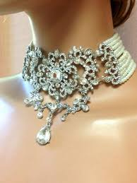 crystal choker necklace set images Pearl choker necklace and earrings necklace wallpaper jpg