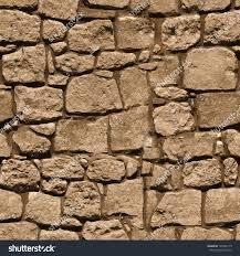 wall large rough natural stone seamless stock photo 142382119