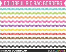 ric rac ribbon clipart ric rac digital clipart border clipart clipart