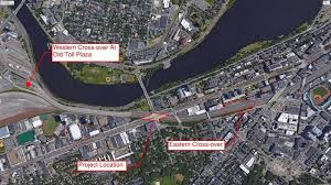 mass pike exits map i 90 mass pike road closures test run this weekend brookline ma