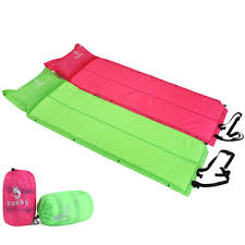 outdoor camping hiking inflatable cushion folding sleeping bed mat