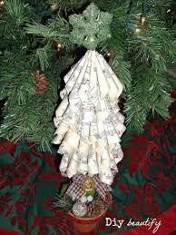 paper curl christmas trees diy beautify