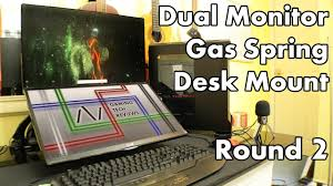 rosewill dual monitor desk mount vonhaus dual monitor gas spring desk mount with usb 3 0 ports youtube