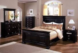 Black Wood Bedroom Set Wonderful Queen Headboard And Footboard Captivating Black Solid