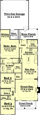 cottage style house plan 3 beds 2 baths 1550 sq ft plan 430 64