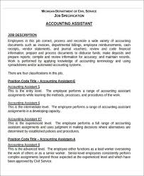 Accounting Assistant Job Description For Resume by 26 Accountant Resume Format