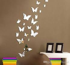 Mirror Sets For Walls Set 3d Butterfly Mirror Effect Wall Decal Sticker Diy Home
