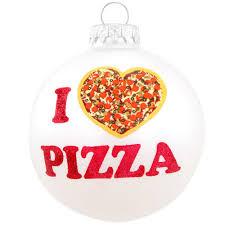 i love pizza glass ornament hungary made european made