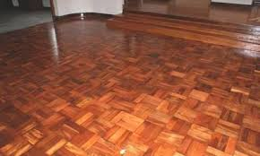 teak parquet flooring is designed in number of shades with e
