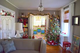 in the little yellow house christmas inside in the daytime